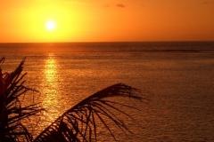 Sunset in Flic en Flac