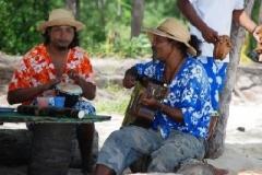 Musiker auf Ile Benitier
